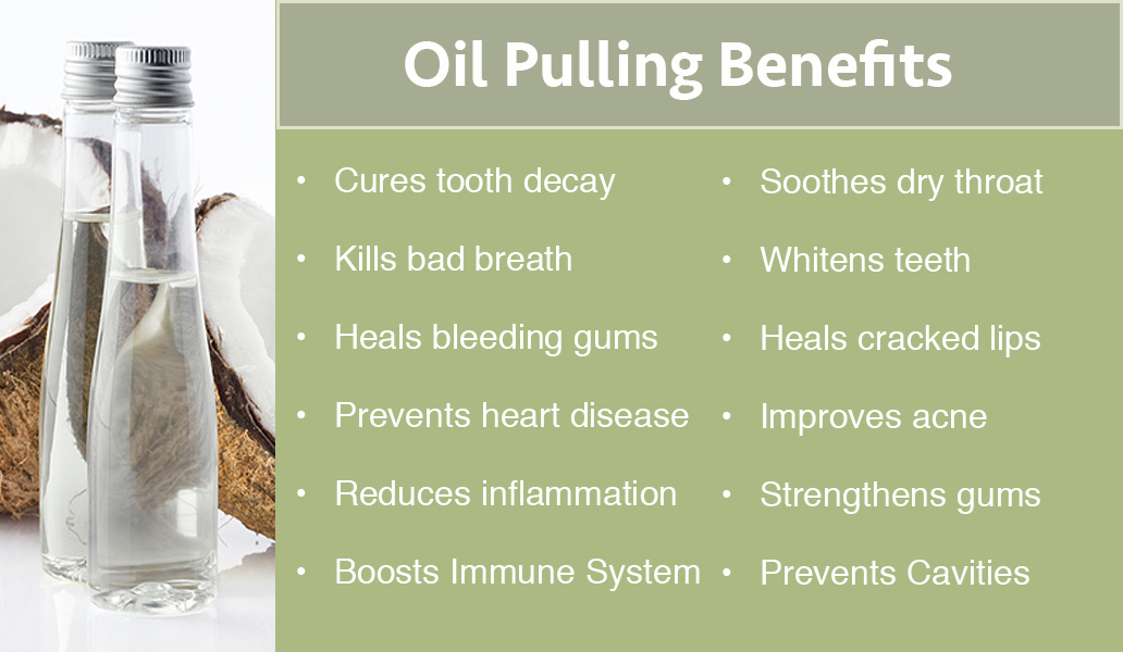 oil pulling and some of  the benefits listed
