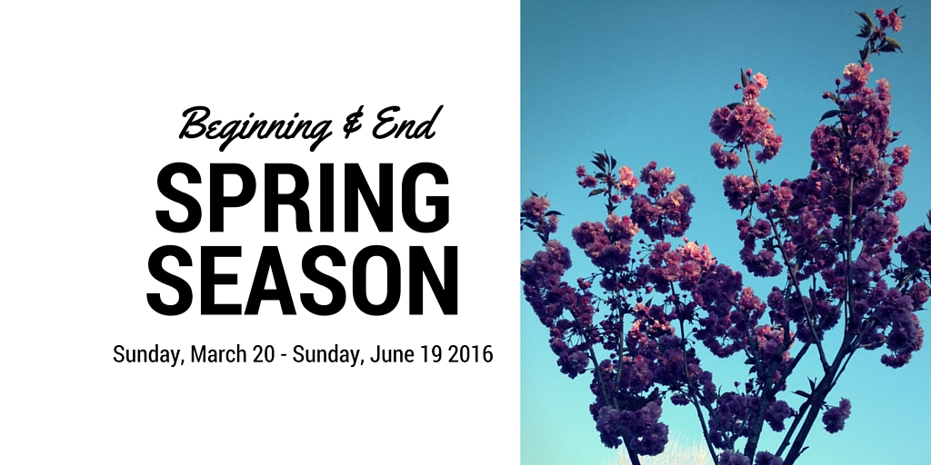 Get rid of emotional possessions for Spring Season beginning 20th March ends 19th June 2016