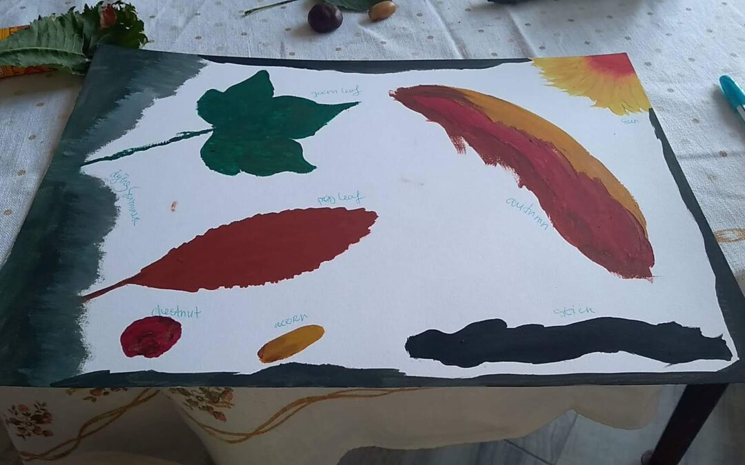 painting of autmn leafs